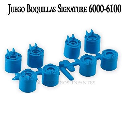 Signature Juego de 8 boquillas para aspersor turbina Serie 6000-6100 Conjunto de 8 boquillas para Las...