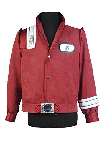 Elecos Star Trek III-V Bomberjacke Uniform Mantel cosplay Kostüm Karneval Halloween Herren Rot XL