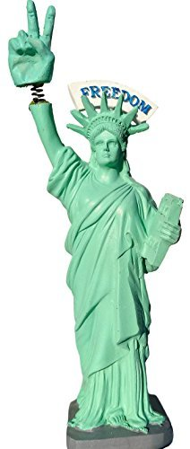 Donald Trump Statue Of Liberty FREEDOM Bobble Finger Love & Peace Sign BobbleHead 7 figurine