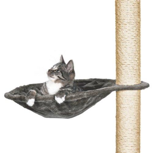 Trixie 43542 Liegemulde für Kratzbaum, Metallrahmen, ø 40 cm, platingrau