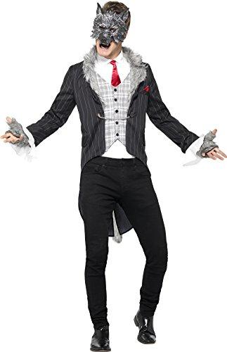 Smiffys 44395XL - Herren Großer Böser Wolf Kostüm, Größe: XL, grau
