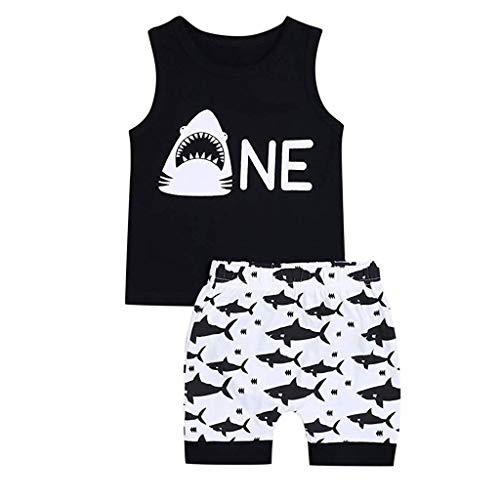 Alwayswin Baby Jungen Kid Brief Gedruckt T-Shirt Tops + Camouflage Gedruckt Shorts Outfits Set Sommer Outdoor Baby-Outfits Freizeit Cool Babykleidung Mode Bequem Wild - Kids Monster Pyjama Kostüm