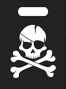 Procos - Bolsas Party Pirates Black Skull, 6 unidades, multicolor, PR89702