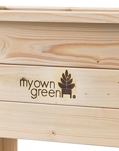 myowngreen Hochbeet aus Fichtenholz naturbelassen – Kräuterhochbeet – Gemüsehochbeet – Blumenhochbeet – kpl. montiert für Terrasse, Balkon, Gewächshaus für schonende Gartenarbeit