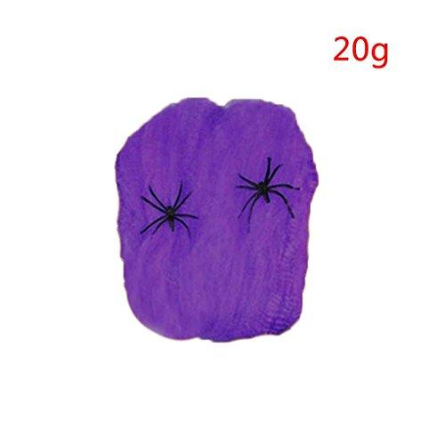 Xuanhemen Halloween Stretchy Spider Web Horror DIY Spinnennetz Stütze für Halloween Scary Party Szene (Scary Diy Dekorationen Halloween)