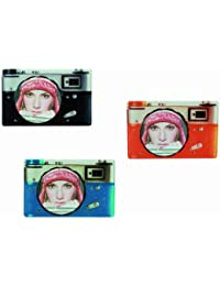 Nostalgic Orange Camera Glass Picture Photo Photograph Frame 10 x 10cm - Ladies / Womans Perfect Ideal Christmas Present / Gift / Stocking Filler Ideal Gift for the Home