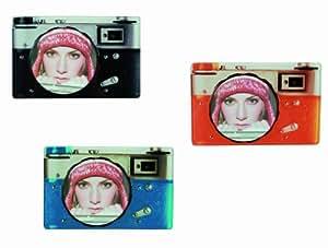 Nostalgic Orange Camera Glass Picture Photo Photograph Frame 10 x 10cm - Great Gift / Present