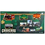 First Smiley Battery Operated Choo-Choo Smoke Plastic Toy Train With Track Set Round With Sound