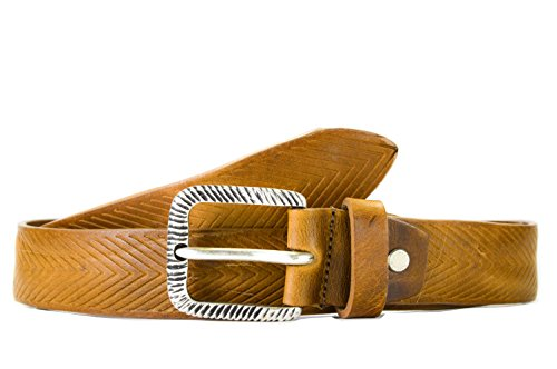 - OAKS BELT - Man genuine leather belt, handmade, 100% made in Italy