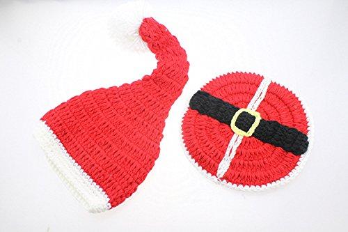 Weihnachtsset,Foto Fotografie Prop Neugeborenes Baby Kleidung Kostüm Fotografische Fotografie Requisiten (BBTZ, Weihnachtsset Rot) (Fotos Weihnachts-requisiten Für)
