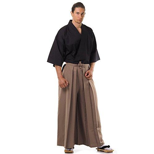 Princess of Asia Kendo Gi Kimono & Hakama Hose Laido Outfit (Beige & Schwarz)