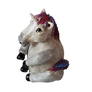 Linas Creatures Einhorn Schutzkappe Abdeckung, Kugelkopf Anhängerkupplung AHK, silbrig weiß