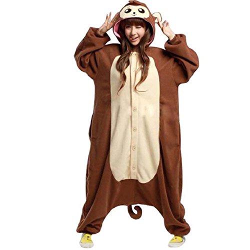 Venaster Spielanzug Kostüme Cosplay Pyjamas Paviane Erwachsene Unisex Animal Cosplay Overall Pajamas Anime Schlafanzug - Pavian Kostüm