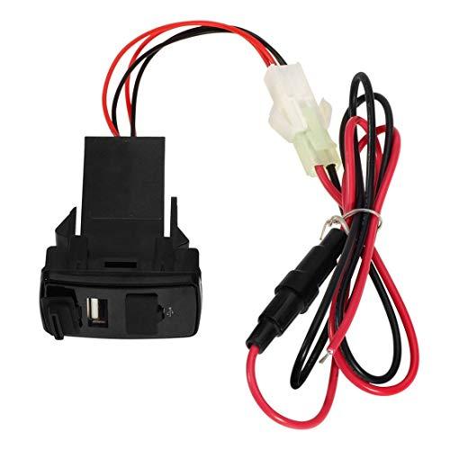 E-CHENG Car Dual USB Socket Charger Phone + Audio Input for Honda Dvr Port 2.1A PDA Durable -