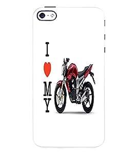 Fuson 3D Printed Yamaha Bike Designer Back Case Cover for Apple iPhone 4S - D777