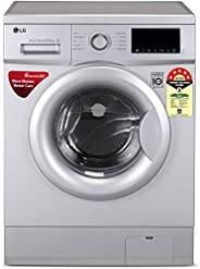 LG 6.5 Kg 5 Star Inverter Fully-Automatic Front Loading Washing Machine (FHM1065ZDL, Luxury Silver, Direct Dri