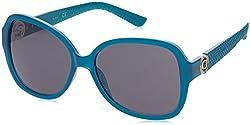 GUESS Unisex GF0275 Shiny Turquoise/Smoke Sunglasses