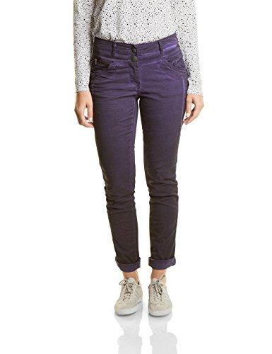 38-taille 29 Bein (CECIL Damen Hose New York, Violett (Dark Purple 11085), 38/L32(Herstellergröße: 29))