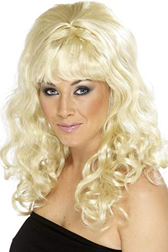 Smiffys, Damen Bienenstock Beauty Perücke mit Locken, One Size, Blond, ()