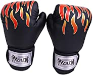 Sports Boxing Gloves Gym Accessory Sanda Boxing Training for Adult - Black