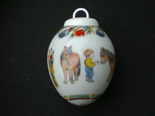 Hutschenreuther - Porzellan Miniatur Ei 1992 -...