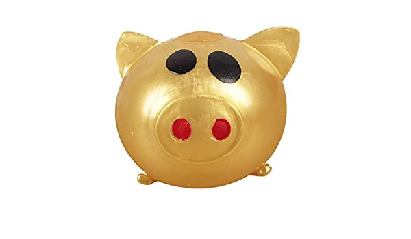 Originaltree 1Pc Anti-stress Decompression Splat Ball Vent Toy Smash Various Styles Pig Toys Venting water ball wholesale venting pig head decompression whole venting fruit venting Gold