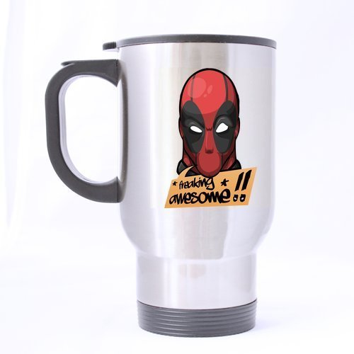 Freaking Awesome Deadpool Decorative Customize Personalized Silver Travel Mug(Tasses à café) Sports Bottle Coffee Mug(Tasses à café)s Office Home Cup 14 OZ Two Sides Printed