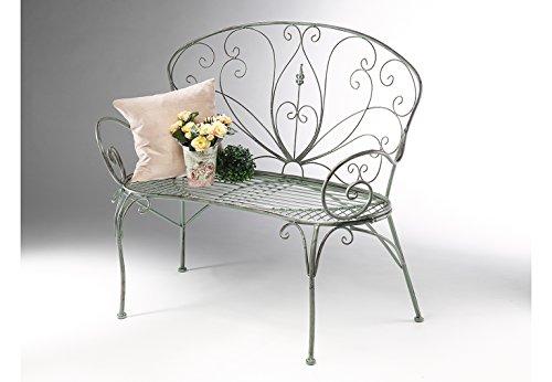 Kobolo Metall-Sitzbank mit Ornamenten Metallbank - 2