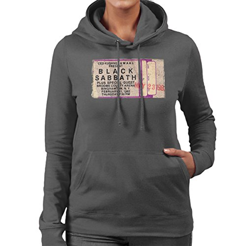 Black Sabbath Binghamtom NY 1982 Women's Hooded Sweatshirt