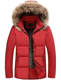 SOIXANTE Manteau Homme Doudoune à Capuche Col Fourrure Doublure Chaude pour  Hiver f7189f2cb00