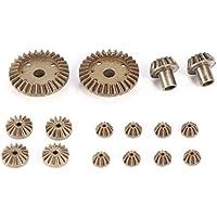 Bellaluee 12 T 24 T 30 T Metall Vorne Hinten Differentialgetriebe / Motor Fahrwerk Upgrade Ersatzteile für WLtoys 12428 12423 1/12 RC Auto