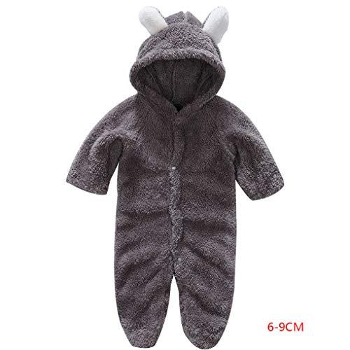 (Masterein Korean Winter-Baby-Strampler Langarm mit Kapuze Overall-Säuglingskleinkind-Kleidung Overall Outfit)