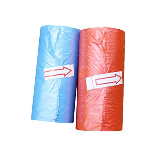 Ndier Einweg-Abfallsäcke Set 30 Tüten für Kinder Abnehmbare Abfallsäcke für Hunde (zufällige Farben) 2 Rollen -