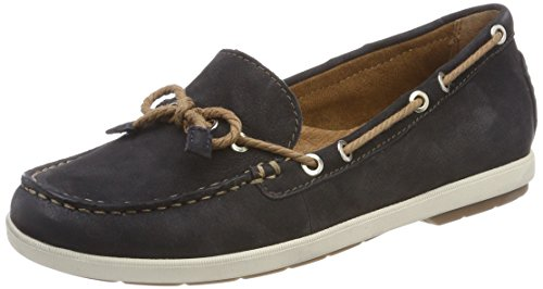 Tamaris Damen 24621 Mokassin, Blau (Navy/Nature), 40 EU