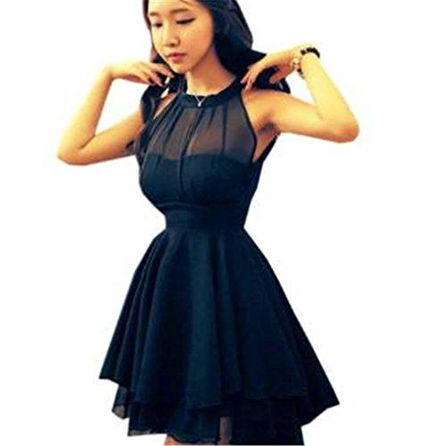Bohai Damen Bandage Spitze Kleider mit Schößchen Partykleid Abendkleid