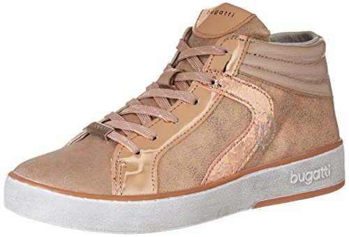 Bugatti Damen 422291305050 Hohe Sneaker, Pink (Rose/Metallic), 38 EU (High-top-rose)