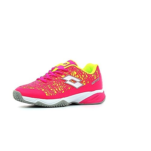 Lotto Viper Ultra Jr L, Sneakers basses mixte enfant Coloris variés (multicolore / fuchsia fluo (fuxia fluo) / blanc)