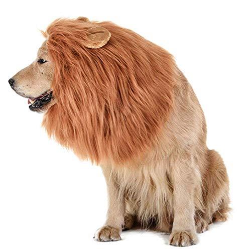 Dog Lion Mane PET Kostüm Realistische Lion Wig Verstellbar Für Mittlere Und Große Hunde (Lion Dog Kostüm)
