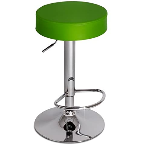Miadomodo Swivel Bar Stool Round Height Adjustable Chair Kitchen Dining Home Furniture (Choice of Colour/Quantity)
