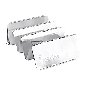 41JXkPFtl7L. SS300  - Folding 9-Plate Aluminum Camping BBQ Stove Cooker Windshield folding Windshield---Silver