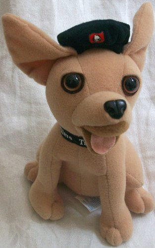 taco-bell-6-plush-dog-doll-toy-wearing-black-hat-by-applause