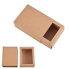 Idea Regalo - BENECREAT 20 Pack Scatole di Cartone Kraft Scatole Regalo di Festa Scatole di Sapone di Sapone Bomboniere di Addio al Nubilato - Marrone 11.2x8.2x4.2cm