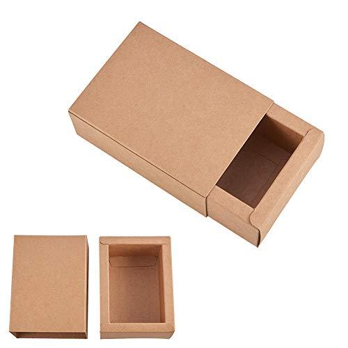BENECREAT 20 Pack Caja Cartón Kraft Cajas Regalo