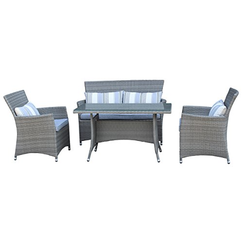 outdoor lounge set diego garden dining set poly rattan. Black Bedroom Furniture Sets. Home Design Ideas
