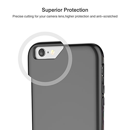 iPhone 7 Case, SOUNDMAE Dual Layer Hybrid Microfiber & PC Anti-impact Shockproof Antiskid Splice Nice Touch Case Cover For iPhone 7 [Black] Grey
