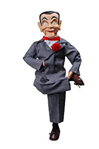 """Slappy Dummy, Ventriloquist Doll """"Star of Goosebumps"""", Famous Ventriloquist Dummy. Has glow in the dark eyes. Comes w/BONUS Book 'How to Be a Ventriloquist', Instructions to Learn Ventriloquism."""