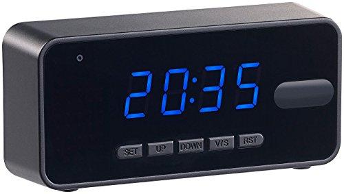 OctaCam Versteckte Kamera: 4in1-Tischuhr mit Full-HD-Kamera, Wecker, Thermometer, Nachtsicht, PIR (Uhr mit Kamera)