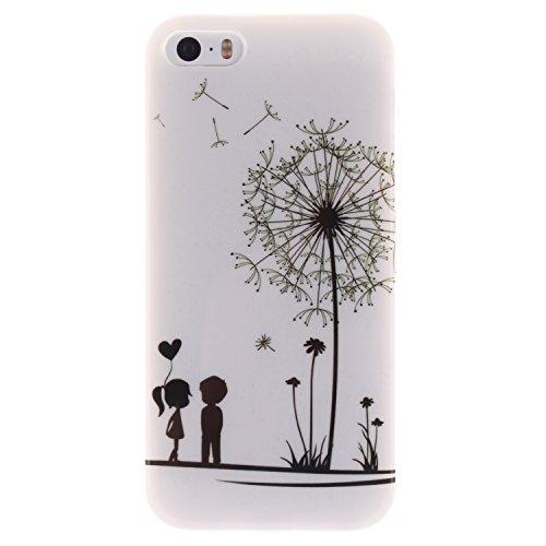 ZeWoo TPU Schutzhülle - TX018 / Ein sexy Mädchen - für Apple iPhone 5 5G 5S Silikon Hülle Case Cover TX003 / Löwenzahn und Kinder