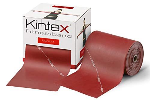 Kintex Fitnessband Bulk-Rolle 25m Rot (mittel), Gymnastik-Band, Wiederstands-Band - Bulk-sport-band