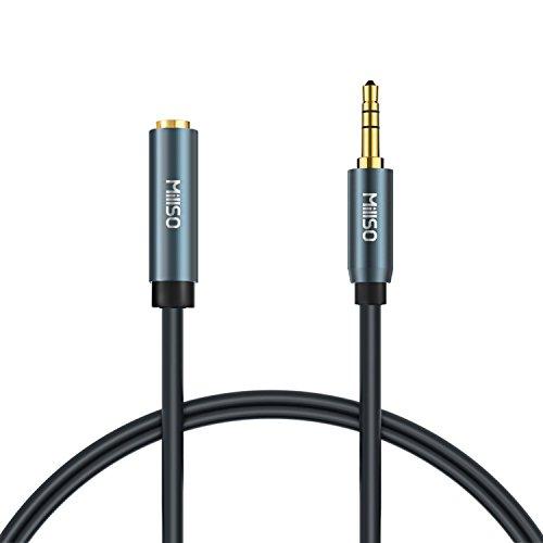 MillSO 3.5mm Klinke Verlängerung 0.5 Meter Stereo Klinkenkabel Stecker auf Buchse für iPhone, iPod, MP3, Stereo, Handy, Sprecher, Kopfhörer, Auto Radio, Heimkino und Heim Stereoanlage